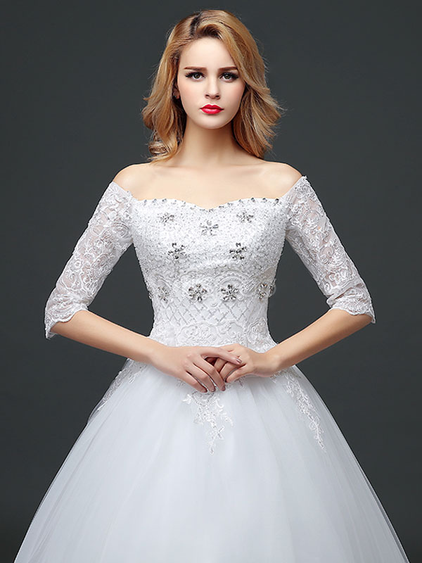 princesse robe de mari e princesse hors de l 39 paule avec perles et noeud hors de l 39 paule en. Black Bedroom Furniture Sets. Home Design Ideas