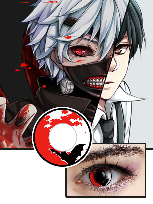 Tokyo Ghoul Kaneki Ken Halloween Cosplay Contact Lenses