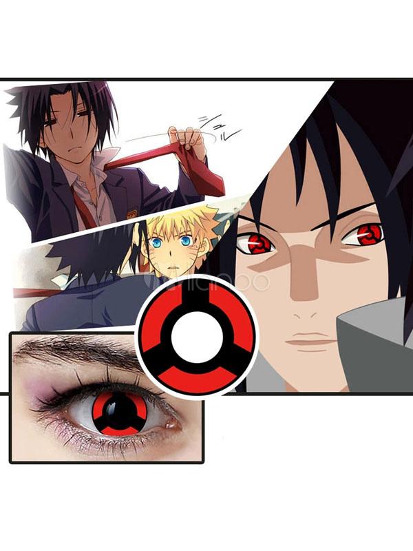 Naruto Uchiha Sasuke Sharingan Cosplay Contact Lenses