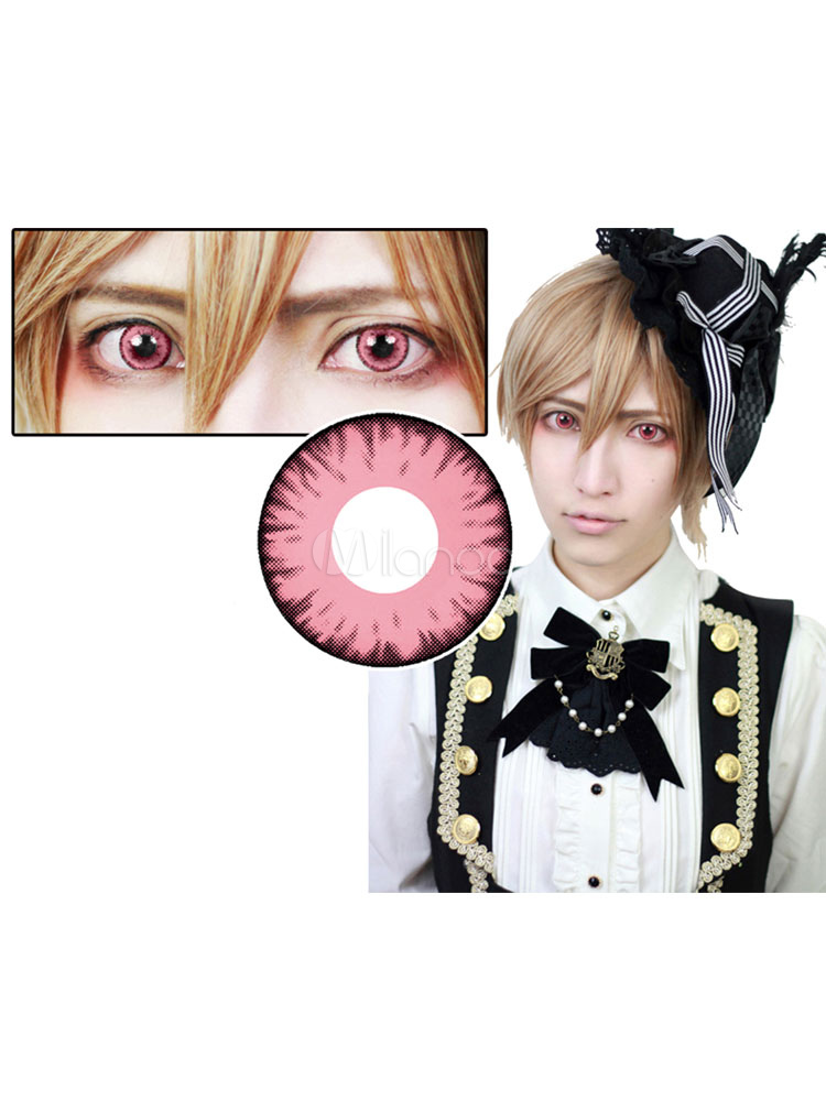 Anime Pink Halloween Cosplay Contact Lenses