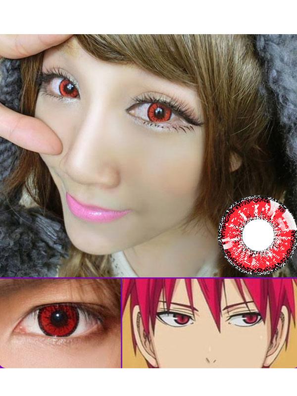 d08383e0fa38c Anime Red Cosplay Contact Lenses Kuroko No Basuke Akashi Seijyuurou Contact  Lenses-No.1 ...