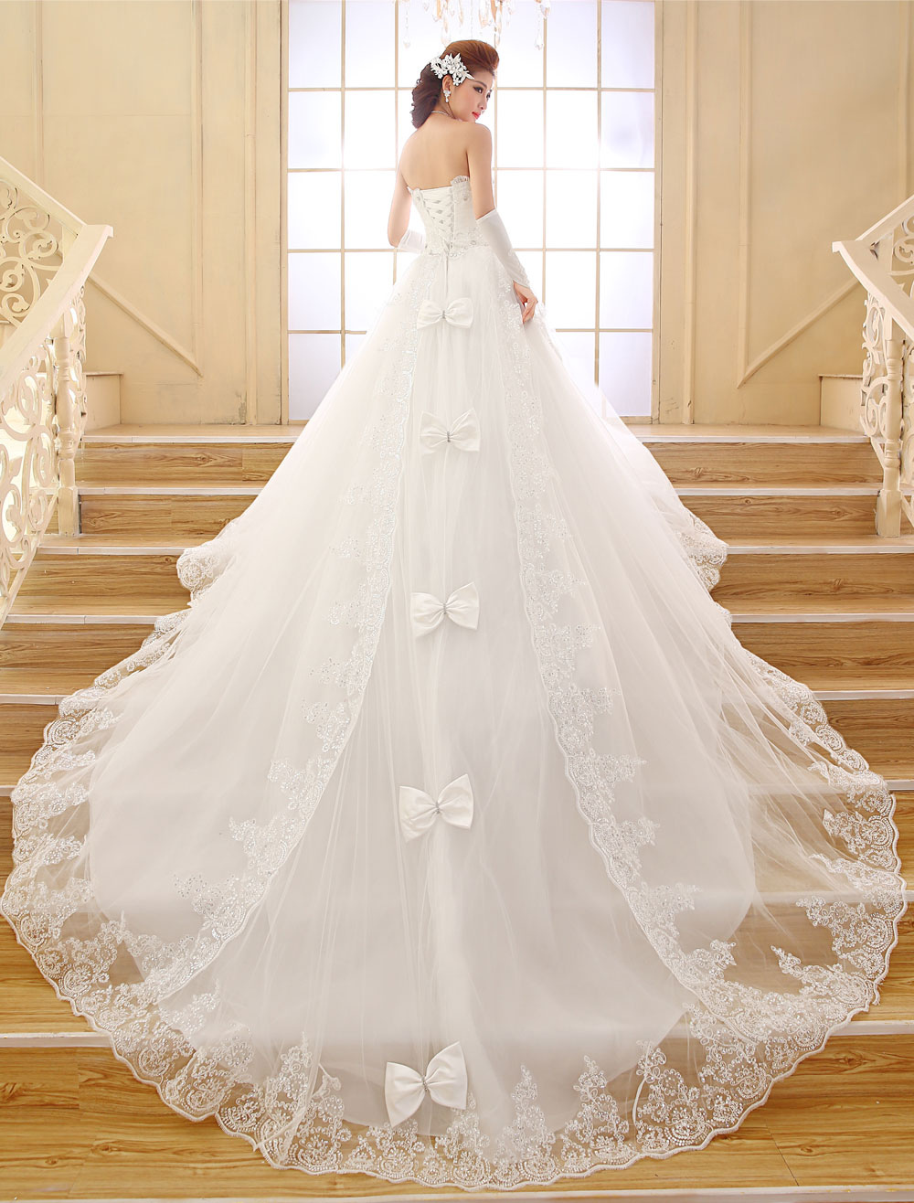 Princess wedding dresses strapless ball gown bridal dress for Ball gown wedding dresses with sweetheart neckline and beading