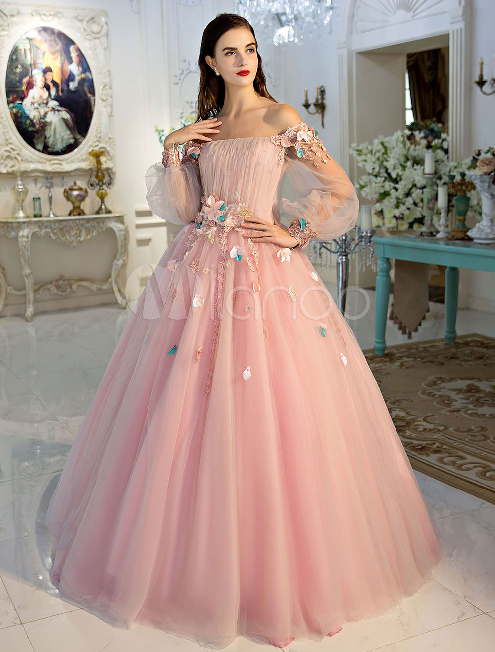 Princess Pageant Dresses Luxury Off The Shoulder Soft Pink Lace ...