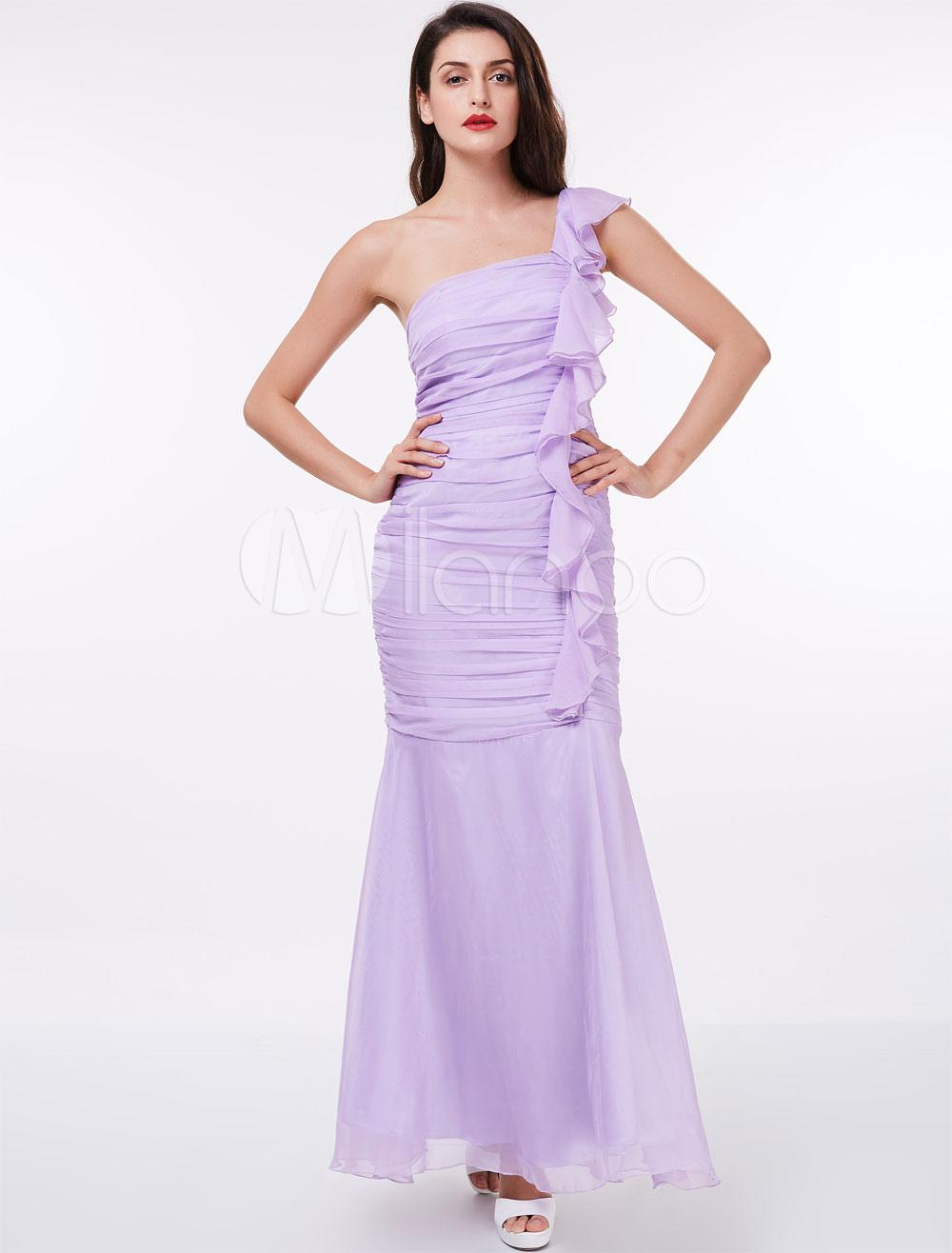 Hermosa Uno Damas De Honor Vestido De Hombro Ideas Ornamento ...