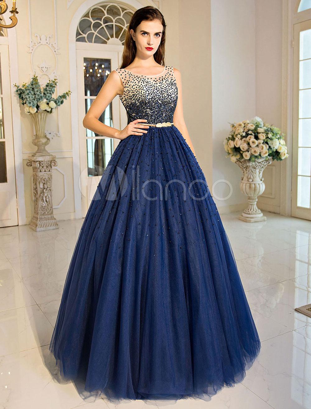 Vestidos de 15 en color azul marino
