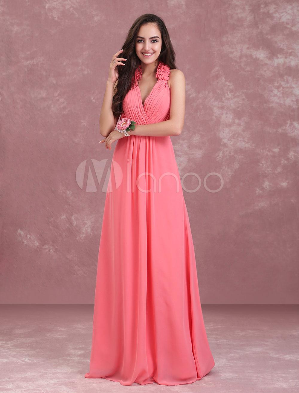 Único Vestidos De Dama De Honor De Color Naranja Ornamento ...
