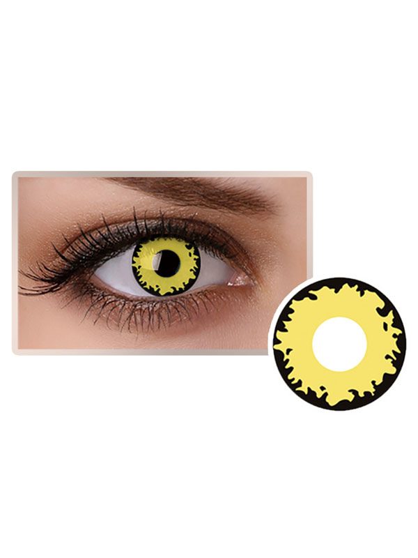 Yellow Eye Contact Lenses Halloween Party Cosplay 2018 Colored Contacts
