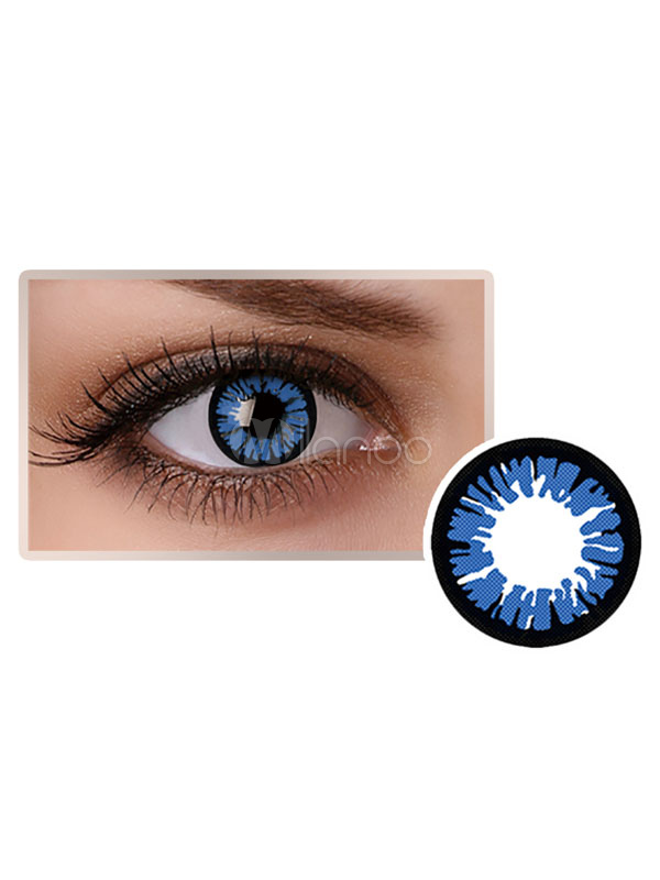 2be91400ff809 Blue Coloured Cosmetic Cosplay Party Eye Contact Lenses - Milanoo.com