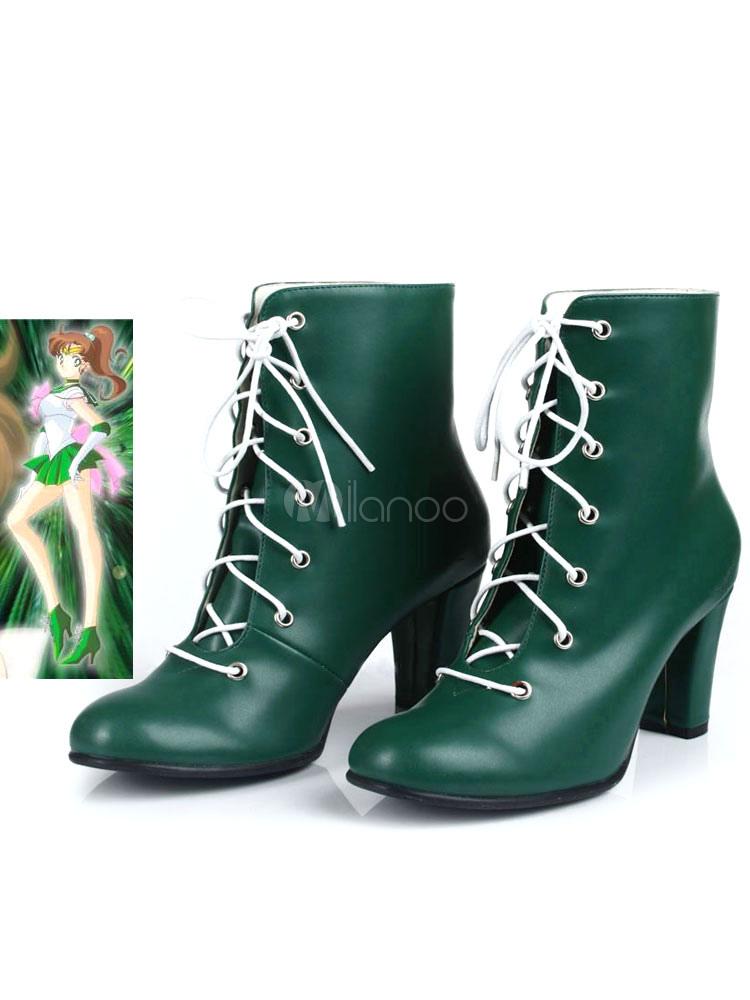 Sailor Moon Sailor Jupiter Makoto Kino Cosplay Shoes