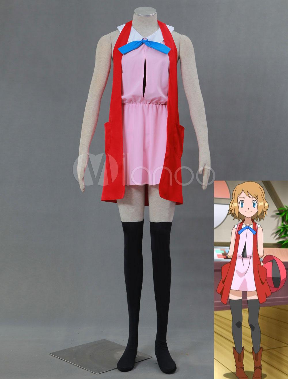 Pokémon XY Serena Halloween Cosplay Costume