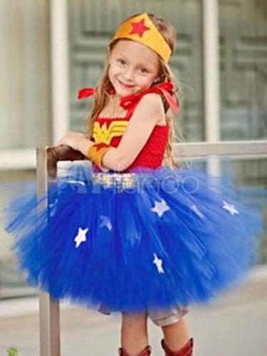 vestido de tut azul de disfraces de halloween para nia no1