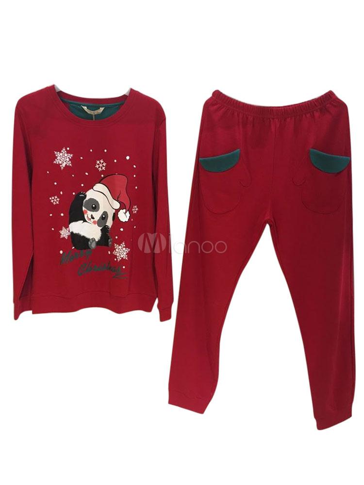 Pyjama Femme Noel Pyjamas De Deguise De Famille En Coton Noel En