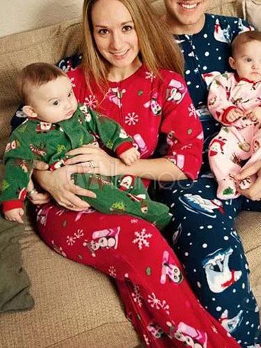Family Christmas Pajamas Blue.Family Christmas Pajamas Men Deep Blue Pants With Top Printed Morning Pajamas