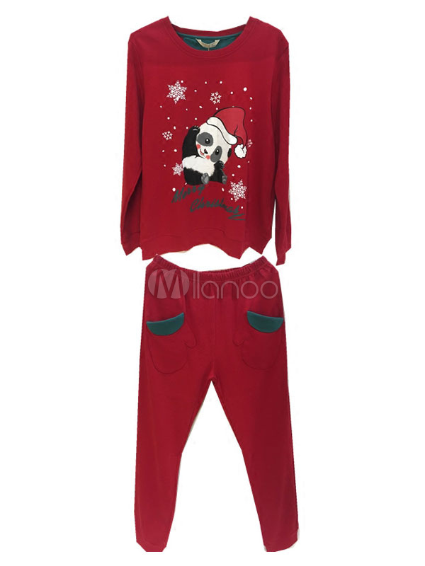 pyjama femme noel pyjamas de d guis de famille en coton no l en m lang de coton pour femme. Black Bedroom Furniture Sets. Home Design Ideas