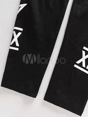 hip hop dance leggings schwarz bedruckte strumpfhose f r m nner. Black Bedroom Furniture Sets. Home Design Ideas
