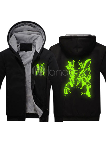 Buy Naruto Polyester Hoodie Blackl Naruto Cosplay Sweatshirt for $40.47 in Milanoo store