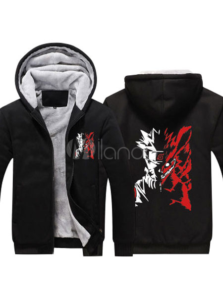 Buy Naruto Polyester Hoodie Black Cool Naruto Cosplay Sweatshirt for $40.47 in Milanoo store