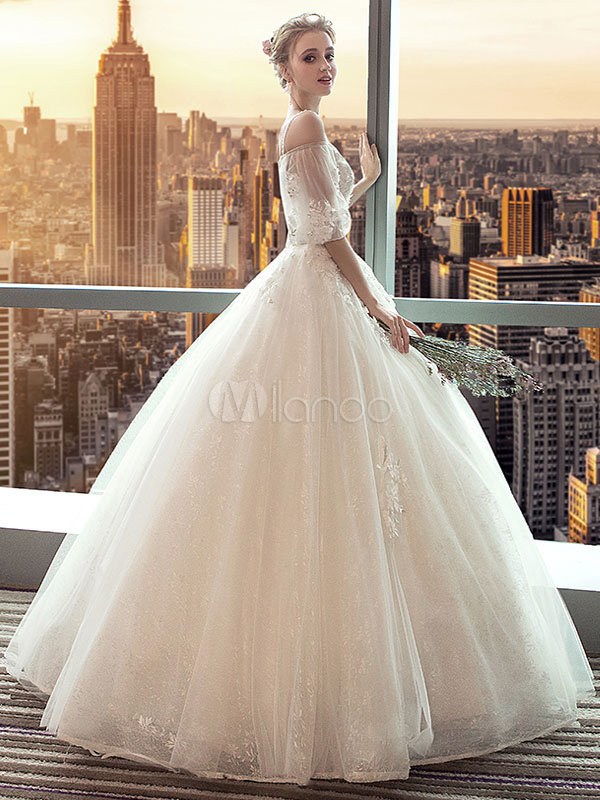 Wedding Dresses Princess Ball Gowns Bridal Dress Off The Shoulder ...