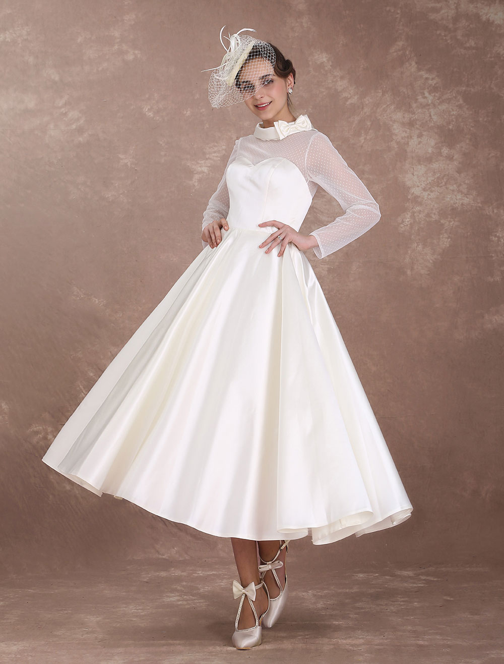 Short Wedding Dress with Sweetheart Neckline