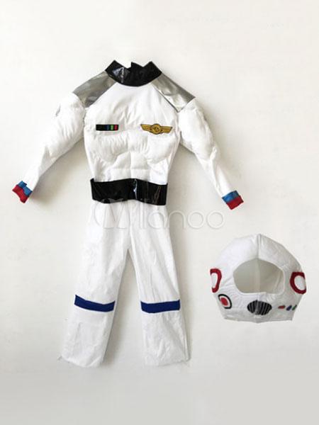e1ea8dd6c Astronaut Halloween Costume Boys White Jumpsuit With Hood - Milanoo.com