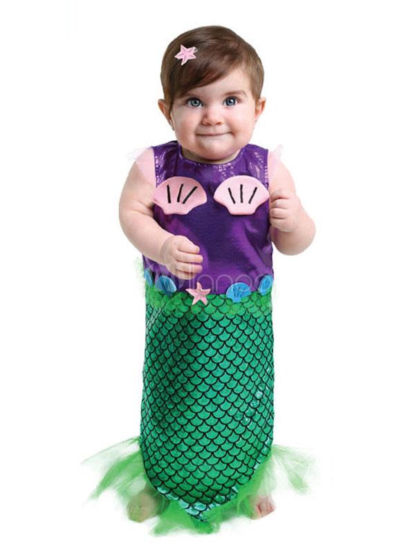 720492346fc3 Toddler Mermaid Costume Halloween Cute Toddler Kid Costume - Milanoo.com