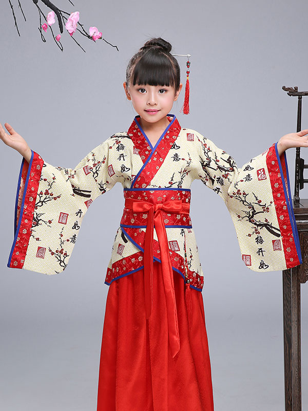 Chinese Kids Costume Halloween Chinese Spring Festival Costume