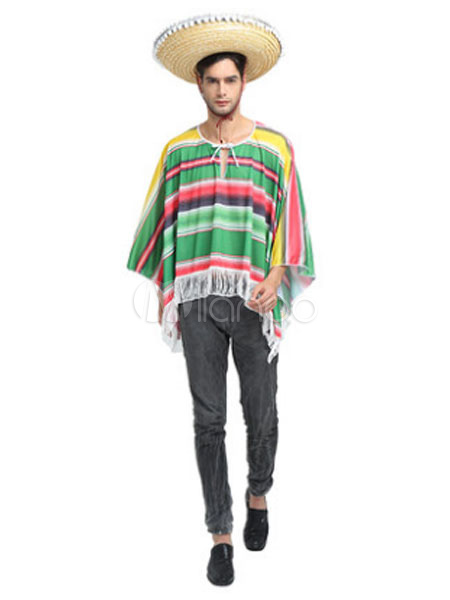Buy Carnival Mexican Costume Men Green Top With Hat for $32.99 in Milanoo store
