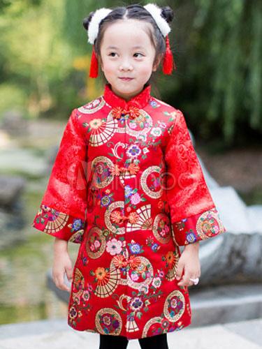 Costumi per bambini per le vacanze abito set Cina bambina rossi -No.1 d91d9ac9c9b4