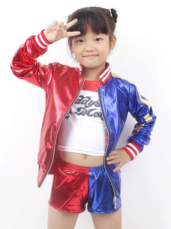 205e93cd177f8 Suicide Squad Harley Quinn Kid Cosplay Costume - Milanoo.com