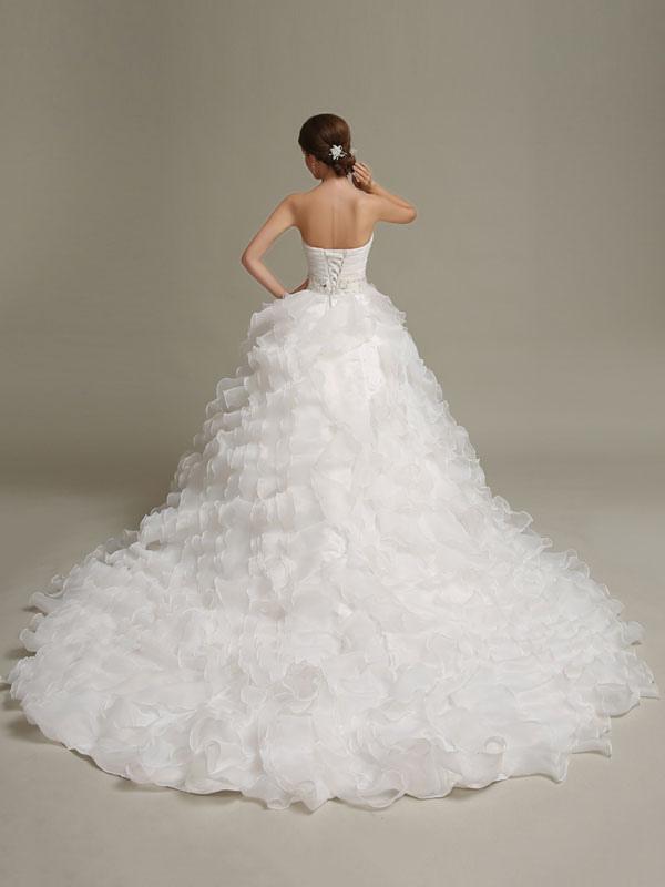 Brautkleider Prinzessin Ballkleider trägerlosen Schatz Ausschnitt ...