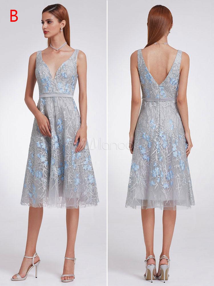Prom Dresses Short Long Two Piece Halter One Shoulder V Neck Lace ...