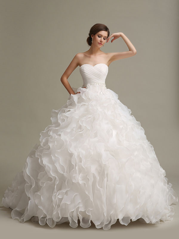 Wedding Dresses Princess Ball Gowns Strapless Sweetheart Neckline ...