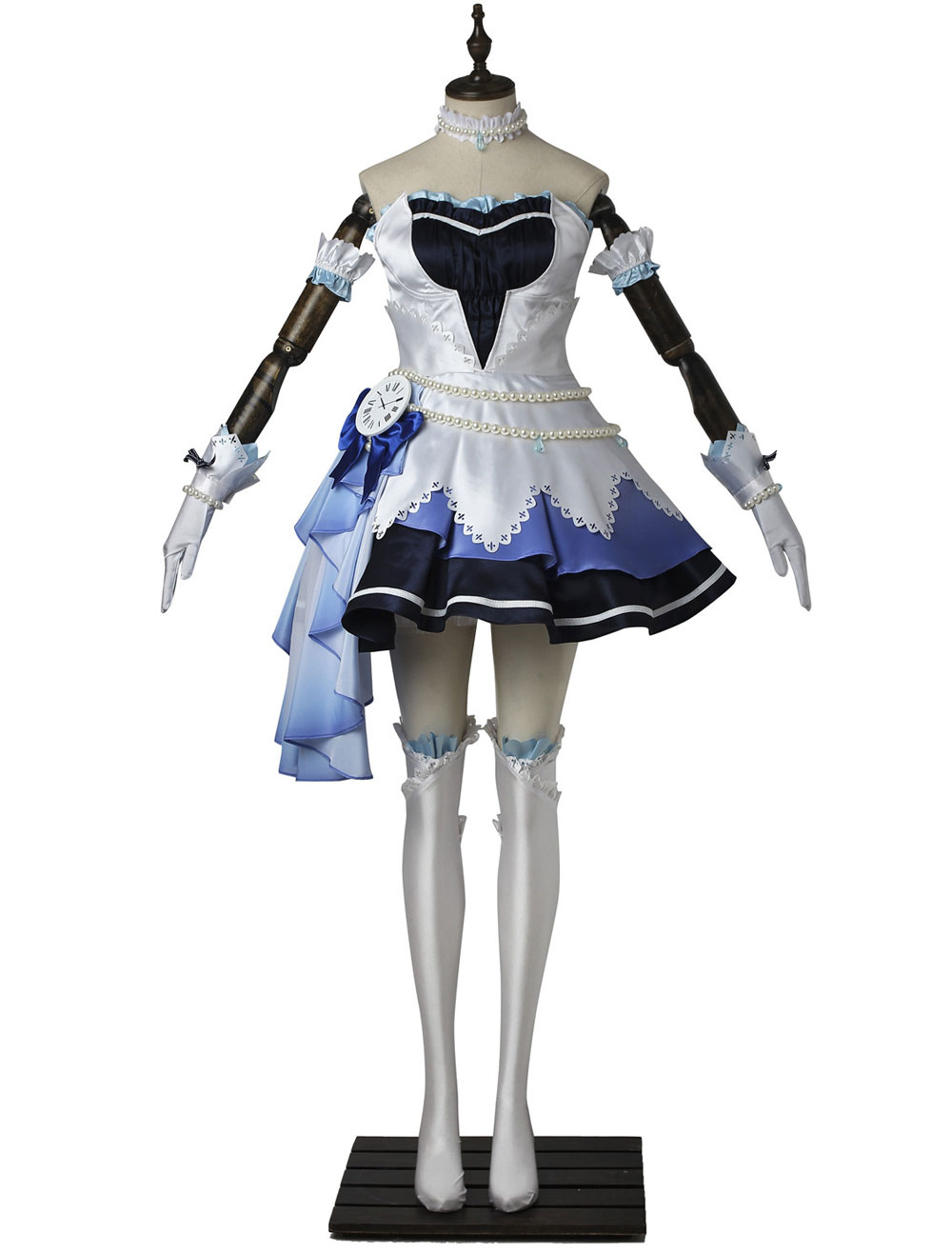 THE IDOLM@STER CINDERELLA GIRLS STARLIGHT STAGE Blue Dress Cosplay Costume