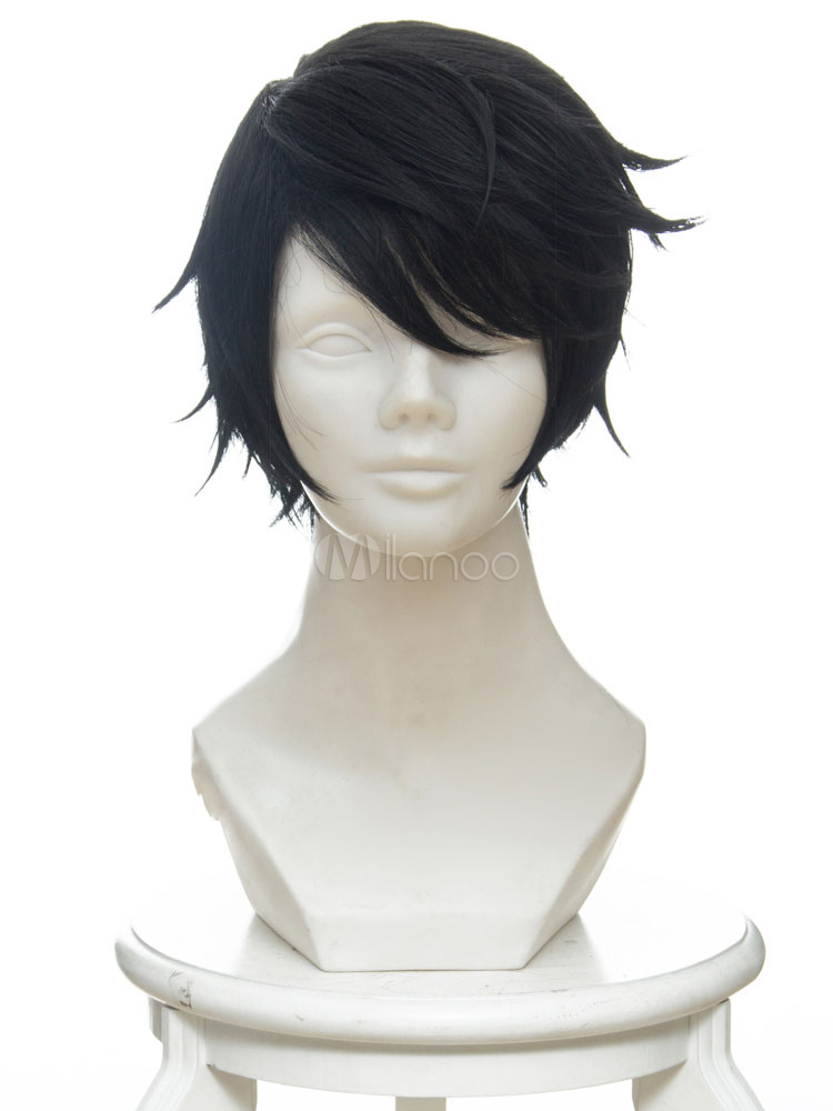 Buy Anime Game Boy Cosplay Halloween Black Wig for $18.99 in Milanoo store