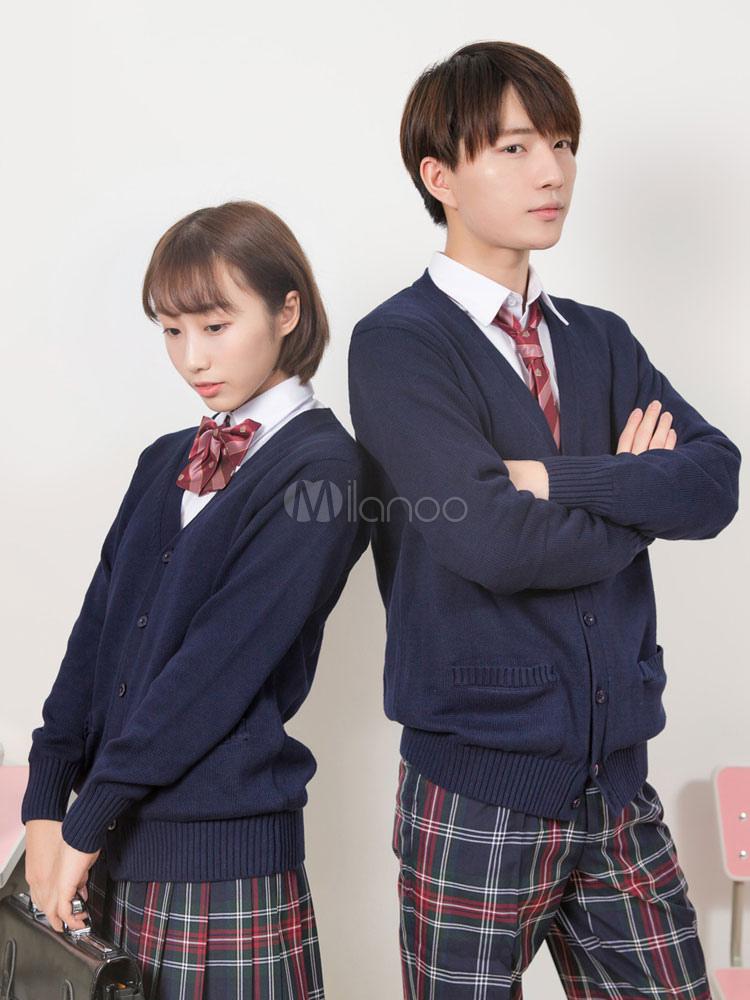 Japanese Anime School Uniform Cardigan Unisex