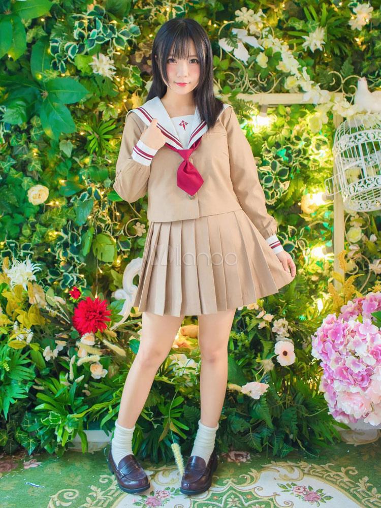 Japanese Anime School Uniform Kawaii School Girl Cosplay