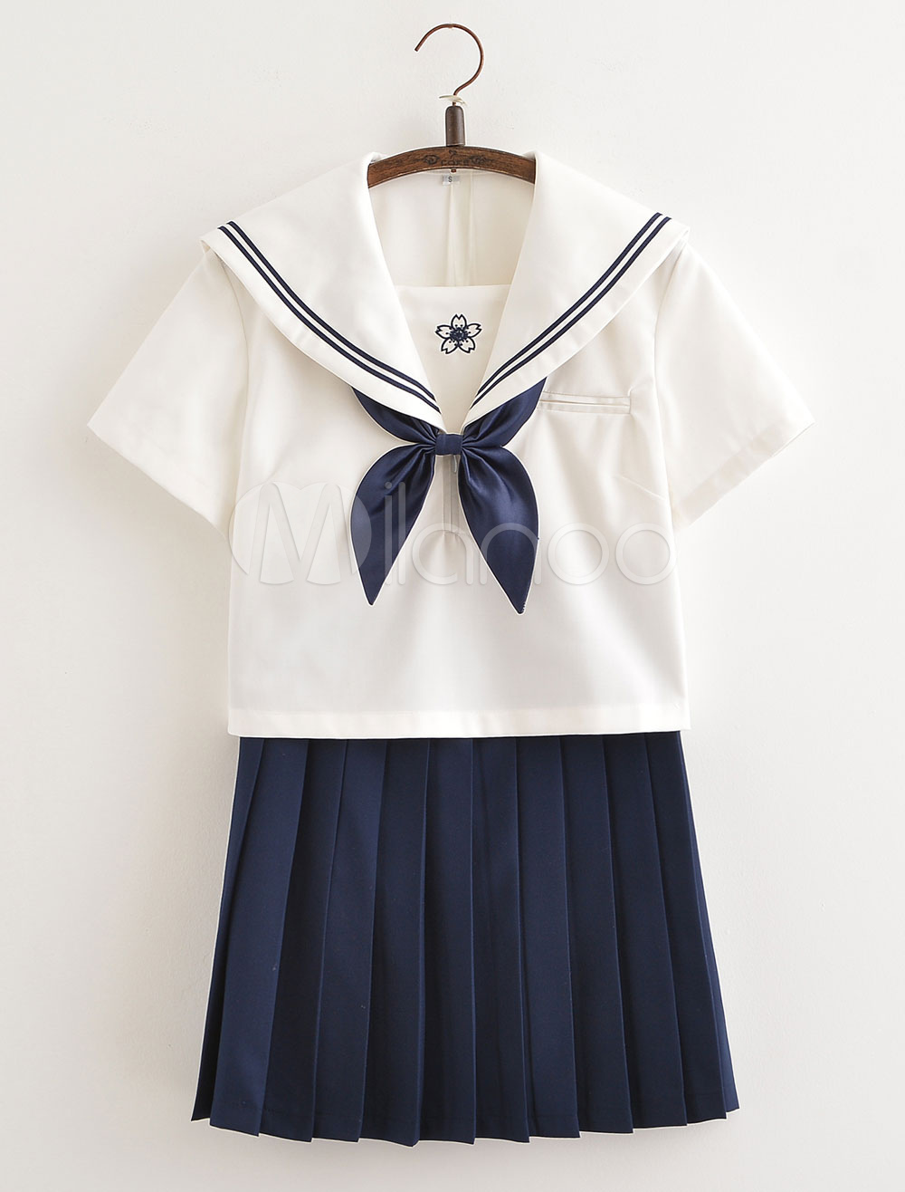 Buy Japanese Anime School Uniform Short Sleeve Kawaii School Girl Cosplay for $56.99 in Milanoo store