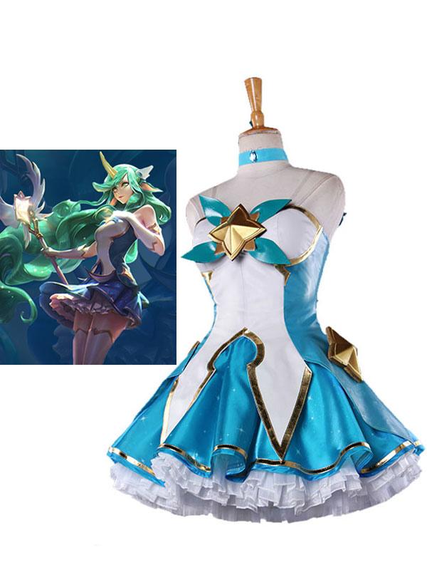 Buy League Of Legend Lol Star Guardian Soraka Cosplay Costume Full Set for $168.99 in Milanoo store