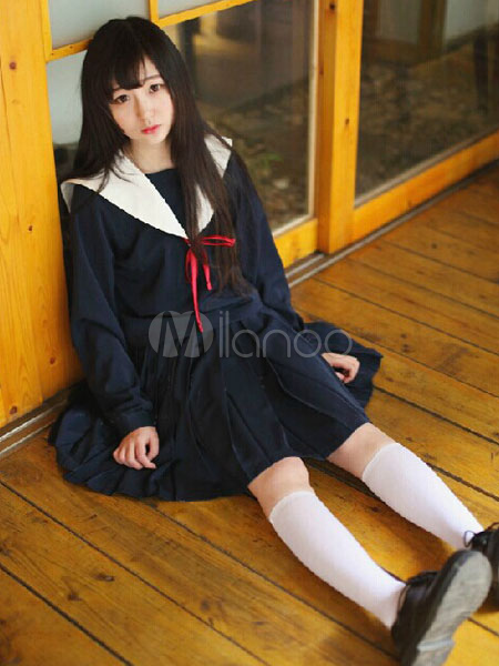 Buy Japanese Anime Winter School Uniform School Girl Cosplay for $59.99 in Milanoo store