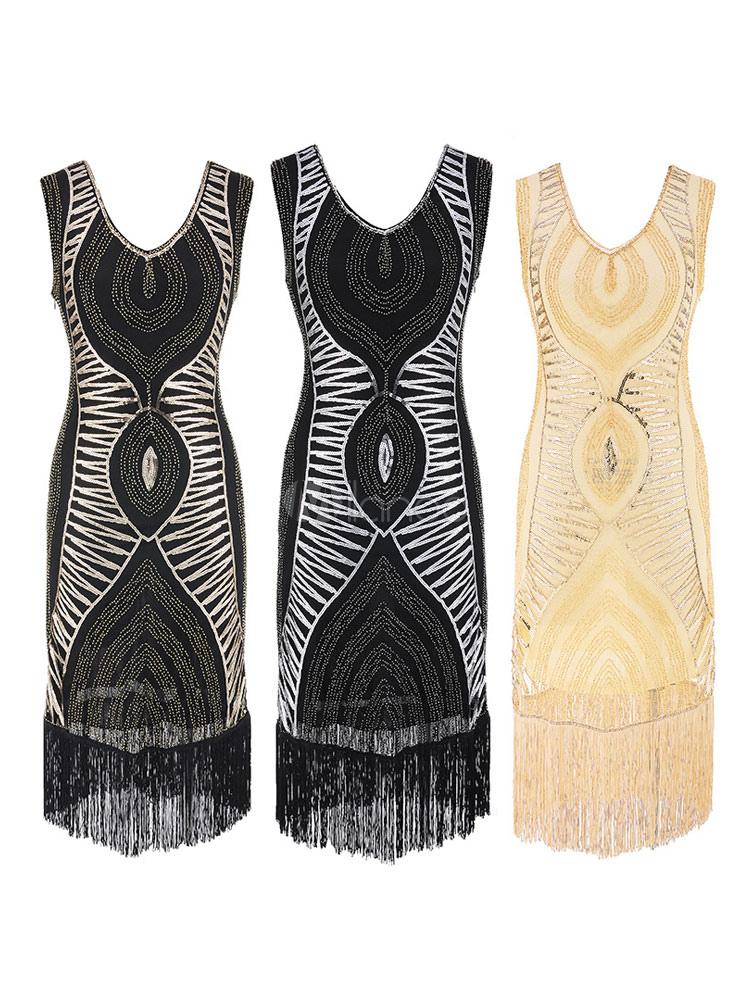 Damenkostüme Kostüme Pailletten Charleston Flapper Kleid Party
