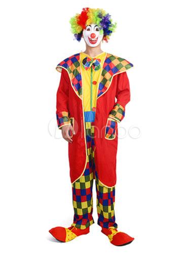 Mardi Gras Circus Costume Easy Clown Costume Men Red Jumpsuit With Overcoat-No.1  sc 1 st  Milanoo.com & Mardi Gras Circus Costume Easy Clown Costume Men Red Jumpsuit With ...