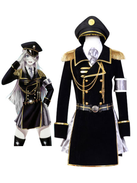 K Anime Neko Military Uniform Halloween Cosplay Costume