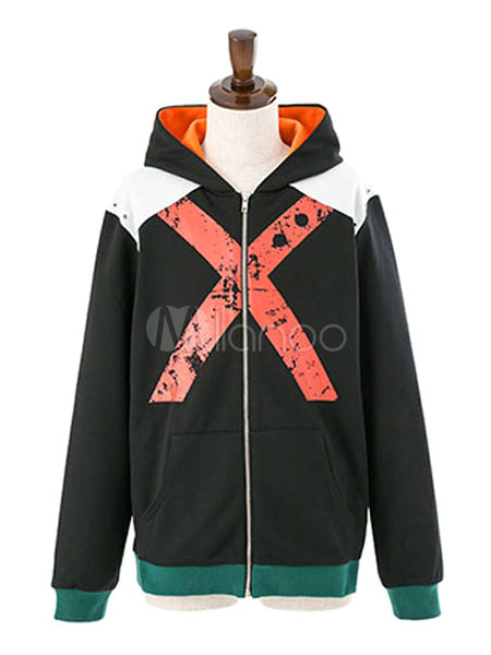 Buy My Hero Academia Bakugou Katsuki Cool Cotton Long Sleeve Hoodie for $44.99 in Milanoo store
