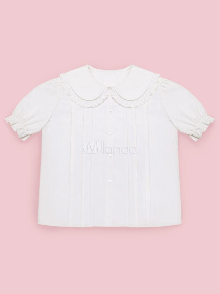 Sweet Lolita Blouse Short Sleeve Puff Sleeve Summer Blouse