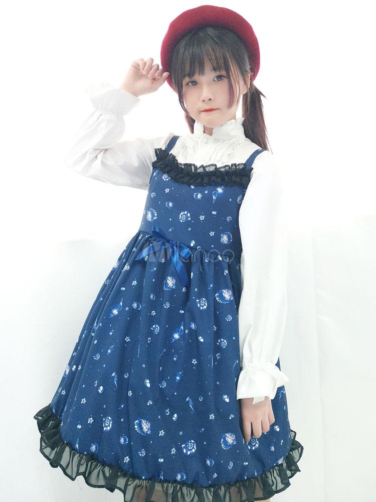 Buy Sweet Lolita Jumper Skirt Jsk Lolita Deep Sea Girl Theme Jumper Skirt for $41.39 in Milanoo store