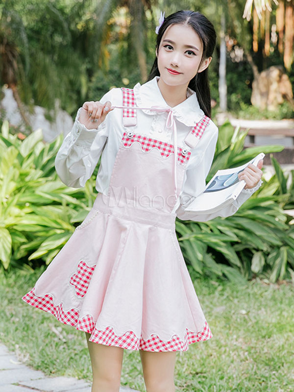 Sweet Lolita Jumper Skirt Plaid Lolita Jsk