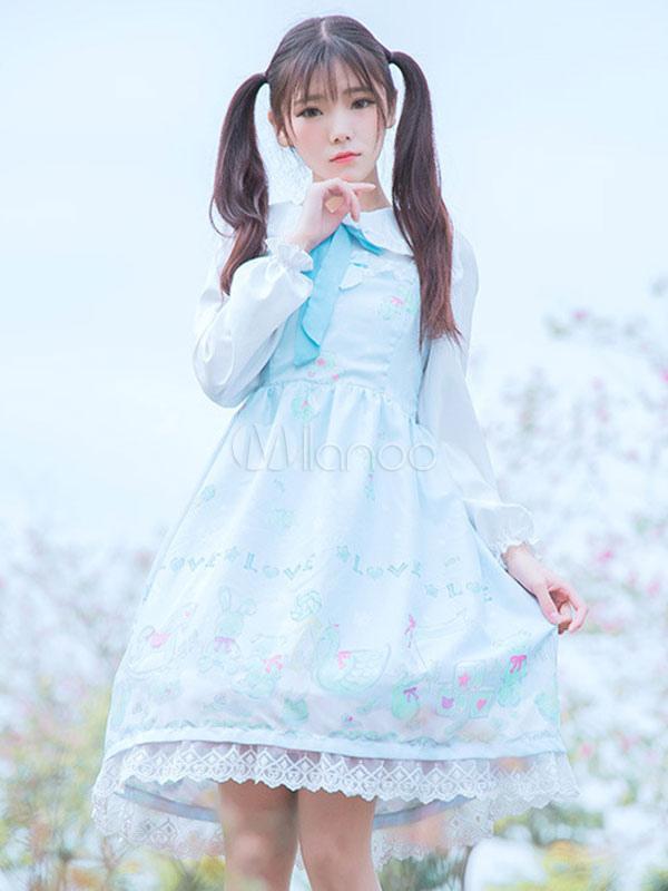 Buy Sweet Lolita Jumper Skirt Snow Doll Sweet Lolita Jsk for $24.99 in Milanoo store