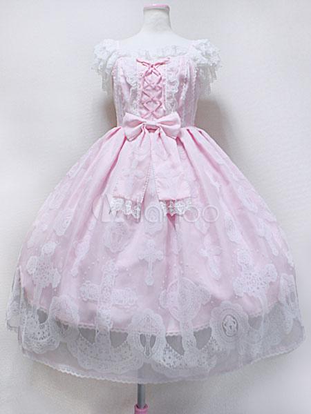 Buy Sweet Lolita Jumper Skirt Heavenly Cross Replica Lolita Jsk for $69.99 in Milanoo store