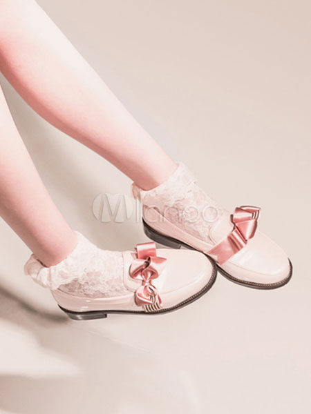 Buy Sweet Lolita Shoes PU Round Toe Chunky Heel Lolita Shoes for $49.99 in Milanoo store