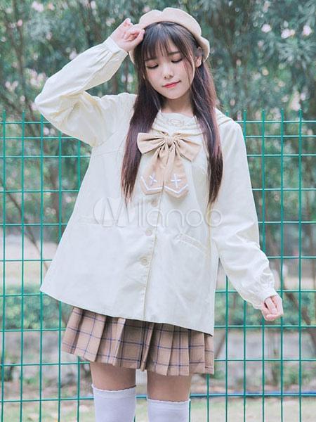 Buy Sailor Lolita Coat Sweet Sailor Collar Lolita Coat for $30.99 in Milanoo store